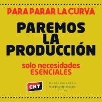 [Espanha] CNT exige que o Governo tome medidas de proteção e de suporte para os trabalhadores e trabalhadoras