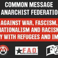 Contra a guerra, o fascismo, o nacionalismo e o racismo
