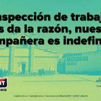 [Espanha] A inspeção do trabalho dá razão à CNT. Nossa companheira é indefinida