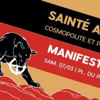 [França] Manifestação Antifascista e Anticapitalista em Saint-Étienne