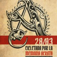 [Chile] Santiago: Bicicletada pela Memória Ácrata - 28 de março