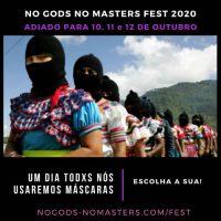 [Peruíbe-SP] No gods No masters Fest é adiado para 10, 11 e 12 de outubro de 2020