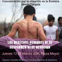[Espanha] Salamanca: Concentração contra a situação na fronteira Grécia-Turquia