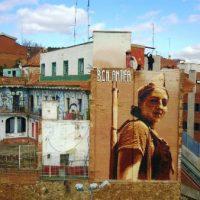 [Espanha] Um mural na Kasa de la Muntanya presta homenagem aos milicianos