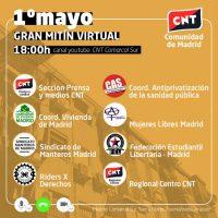 [Espanha] CNT Comunidade de Madrid | 1º de Maio: Grande manifestação virtual