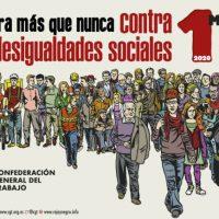 """[Espanha] 1º de Maio de 2020: """"Agora mais que nunca Contra as Desigualdades Sociais"""""""
