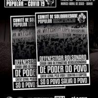 """Fanzine do Comitê de Solidariedade Popular com o Comunicado N° 01 de março/abril de 2020: """"Defenestrar Bolsonaro, criar uma alternativa revolucionária de poder do povo"""""""