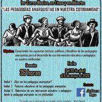 """[Chile] Curso em massa, online e aberto: """"As pedagogias anarquistas em nosso cotidiano"""""""