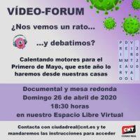 [Espanha] 26 de abril. Documentário e debate online