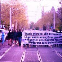 [Alemanha] Manifestação espontânea: Os nazis matam, a União Europeia também — abaixo o estado policial