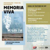 [Espanha] Apresentação e exibição aberta do documentário 'Memoria Viva'