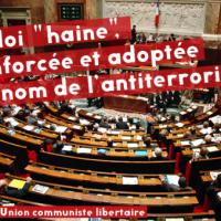 """[França] A lei do """"ódio"""" reforçada e adotada em nome do antiterrorismo"""
