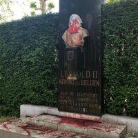 [Bélgica] Busto de rei belga é atacado durante protesto em Ghent