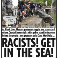 """[Reino Unido] """"Racistas! Entrem no mar!"""""""