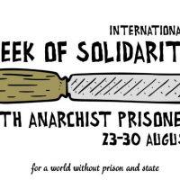 Semana Internacional de Solidariedade com os Prisioneiros Anarquistas, 23 à 30 de Agosto de 2020