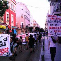 [Espanha] Madrid: A pandemia é a obediência: recuperemos à rua. Pequena intervenção nas ruas de Vallekas.