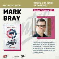 """[Espanha] 4 de junho. Encontro digital com Mark Bray, autor de """"Antifa, o manual antifascista"""""""