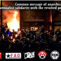 Mensagem Comum das Federações Anarquistas: Solidariedade Internacional com as Pessoas Revoltadas nos Estados Unidos