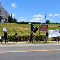 [EUA] Poughkeepsie, NY: Piquete antifascista em casa de supremacista branco local