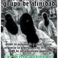 [Chile] Chamado ao protesto popular 2 e 3 de Julho