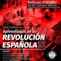"""[Chile] Videoconferência: """"Aprendizagens da Revolução Espanhola em 2020"""""""