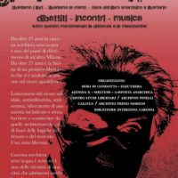 [Itália] Milão: Abaixo a máscara. Feira do livro anarquista e libertário.