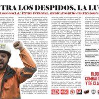 """[Espanha] Contra as demissões, lutemos. Não ao """"Diálogo Social"""" entre empregadores, sindicatos burocratizados e o governo."""