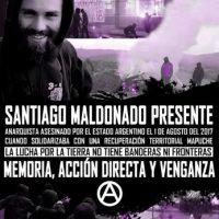 Cartaz a 3 anos da queda em combate de Santiago Maldonado