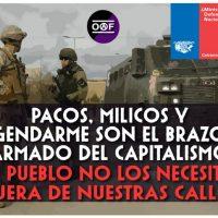 """[Chile] """"Autodeterminação e autodefesa popular, fora milicos e pacos de nossos territórios"""""""