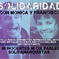 [Chile] Comunicado frente às detenções de Mónica e Francisco