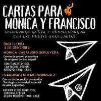 [Chile] Cartas para Mónica e Francisco: solidariedade ativa e revolucionária com xs presxs anarquistas