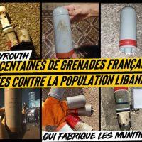 [França] Centenas de granadas francesas lançadas contra a população libanesa