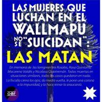 """[Chile] As mulheres que lutam no Wallmapu não se """"suicidam"""": As matam"""