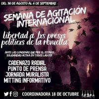 [Chile] Semana de agitação pelxs presxs da revolta, de 30 de agosto a 6 de setembro