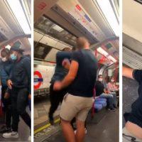 [Reino Unido] Vídeo | Supremacista branco é nocauteado com um único soco no metrô de Londres