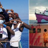 [Reino Unido] Barco financiado pelo artista plástico Banksy ajuda a resgatar imigrantes no Mediterrâneo