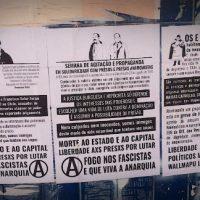 [Porto Alegre-RS] Cartazes em solidariedade com xs anarquistas presxs