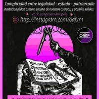 """[Chile] Lançamento do fanzine """"Complicidad entre legalidad-estado-patriarcado"""", 2 de setembro"""
