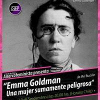 """[Chile] Ciclo de filmes anarcofeministas: """"Emma Goldman, uma mulher extremamente perigosa"""""""