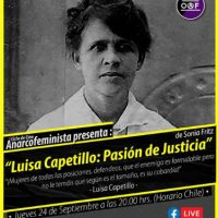 "[Chile] Ciclo de filmes anarcofeministas: ""Luisa Capettillo: Pasión de justicia"" – 24 de setembro"
