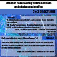 [Espanha] Nova normalidade: O mundo tecnológico | Dias de reflexão e crítica contra a sociedade tecno-industrial, 2 e 3 de outubro, Madrid