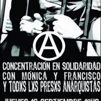 [Uruguai] Montevidéu: Concentração solidária com Mónica, Francisco e todxs xs anarquistas presxs