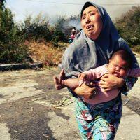 [Grécia] Incêndio devastador varre campo de refugiados sírios em Moria