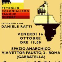 """[Itália] Inauguração do novo espaço anarquista e conferência sobre """"Sangue e guerras do colonialismo do petróleo"""""""