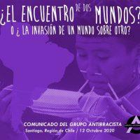[Chile] Comunicado do Grupo Antirracista Santiago: O encontro de dois mundos? Ou a invasão de um mundo sobre outro?