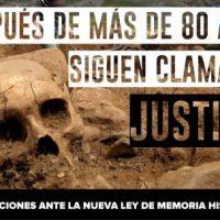 [Espanha] Em vista do Projeto de Lei sobre Memória Histórica e Democrática