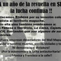 [Espanha] Vídeo | Ataque à sede de Endesa no bairro de Gracia. A um ano da revolta no $hile a luta continua!