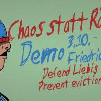 [Alemanha] Todos para a manifestação contra o despejo da Liebig34 | Caos em vez de despejo