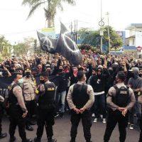 Protestos contra reforma trabalhista na Indonésia