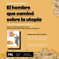 """[Espanha] Apresentação do livro """"O homem que caminhou sobre a utopia"""""""